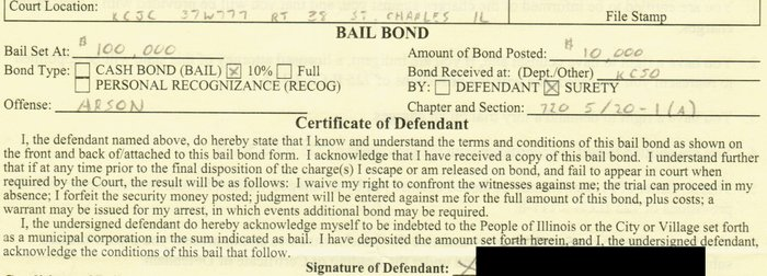 sample illinois bail bond law